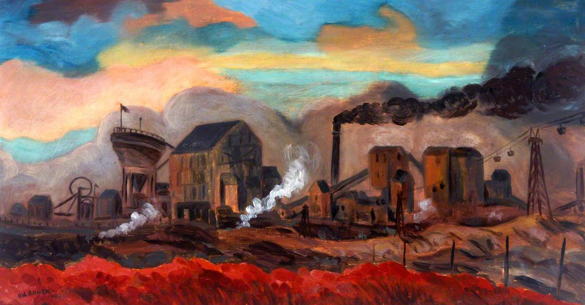 Dawn, Ashington Colliery, Northumberland