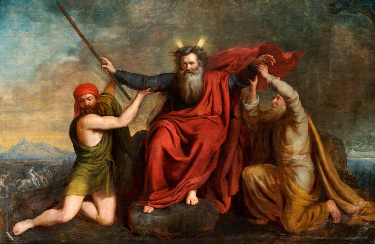 Moses with His Arms Supported by Aaron and Hur