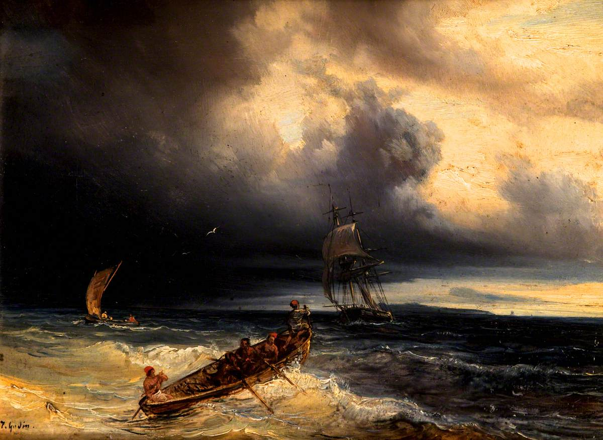 Seascape with Three Boats