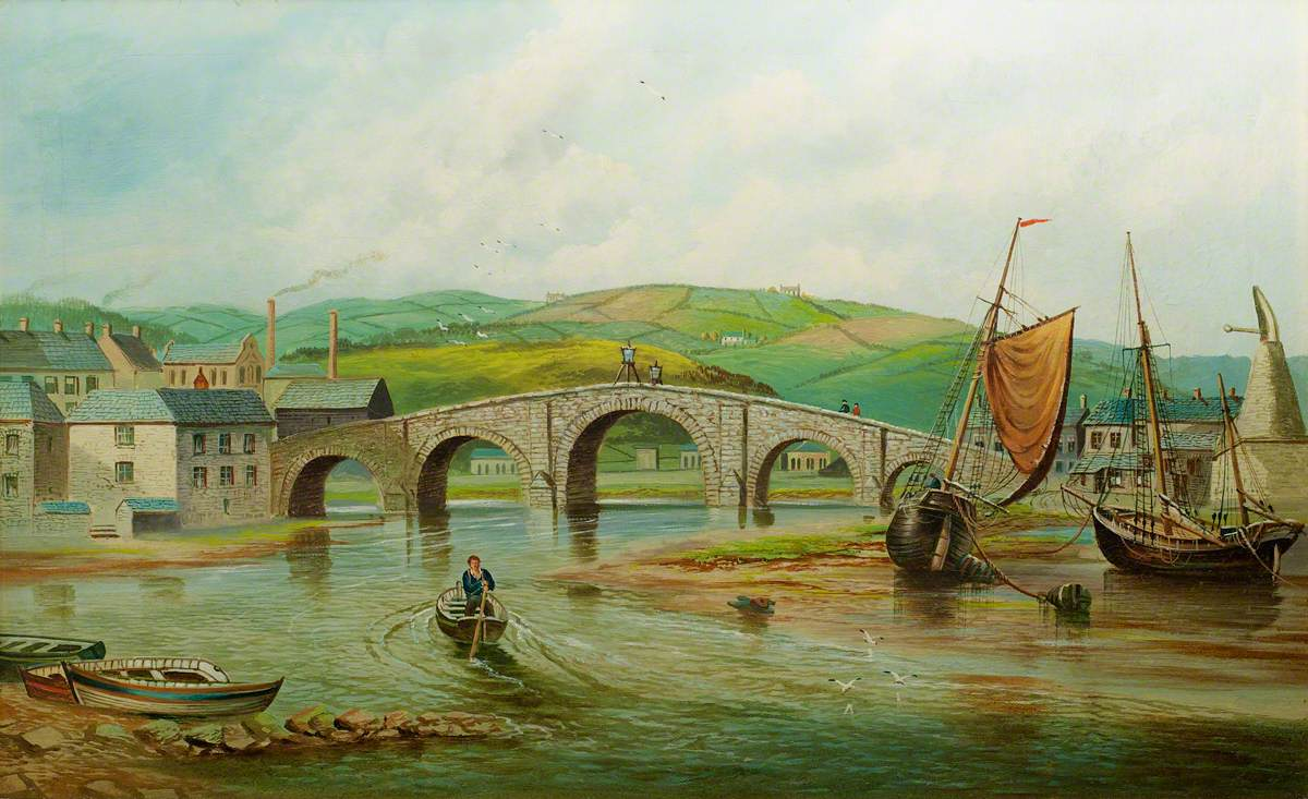 Trefechan Bridge before the Flood of 1886