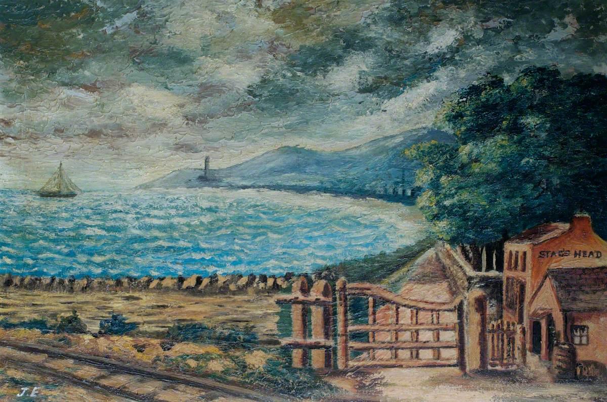 'Stag's Head' and Coastal Scene