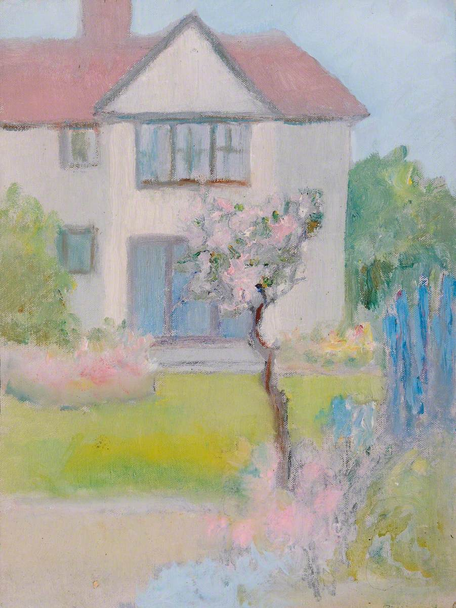 Suburban House and a Rose Tree