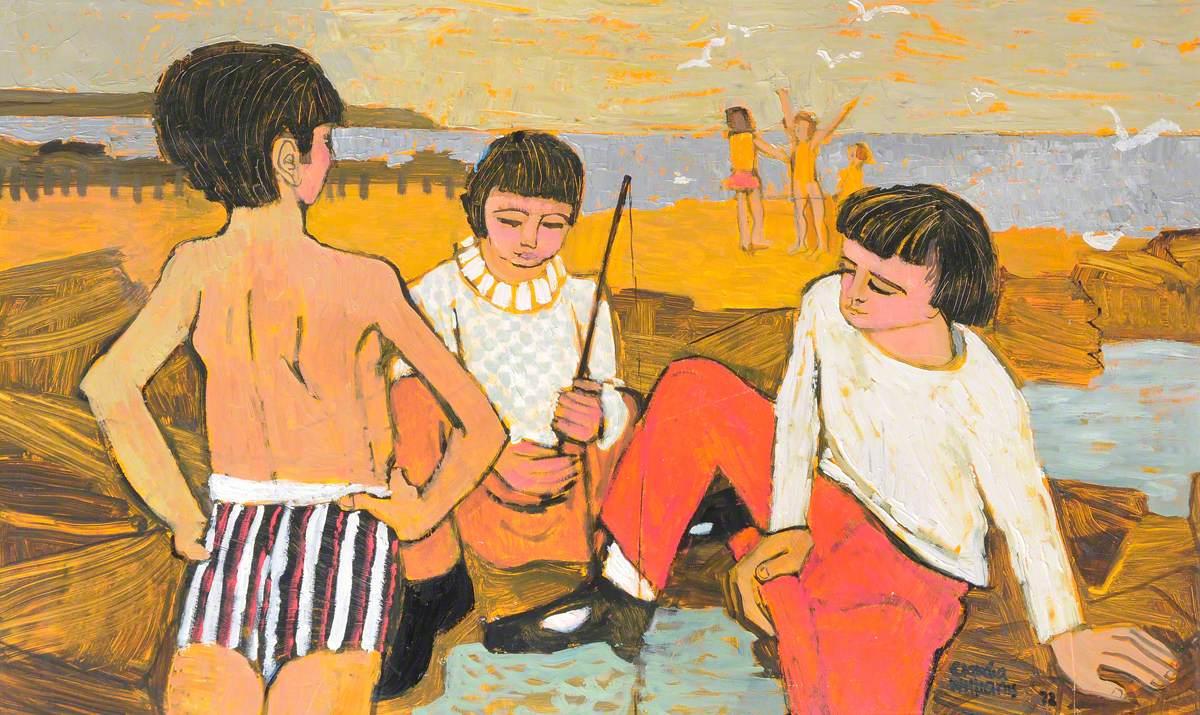 Plant ar y Traeth / Children on the Beach