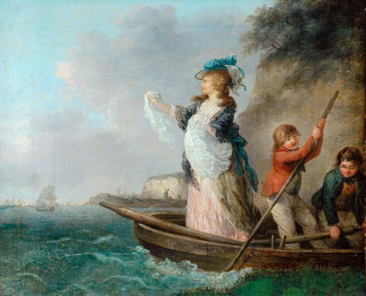 Seascape with Figures in a Boat (Lady Hamilton Waving Farewell to Nelson)