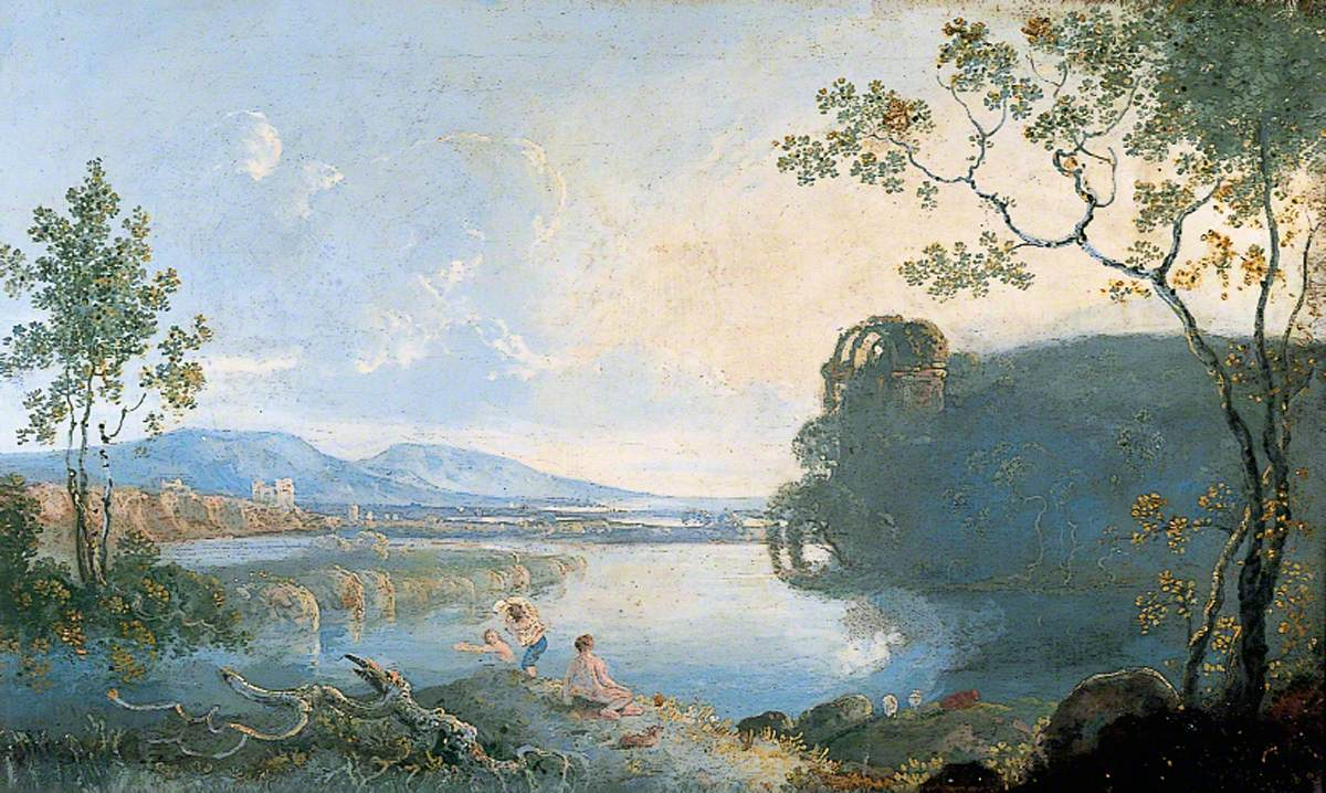 View of the Arne: Boys Bathing