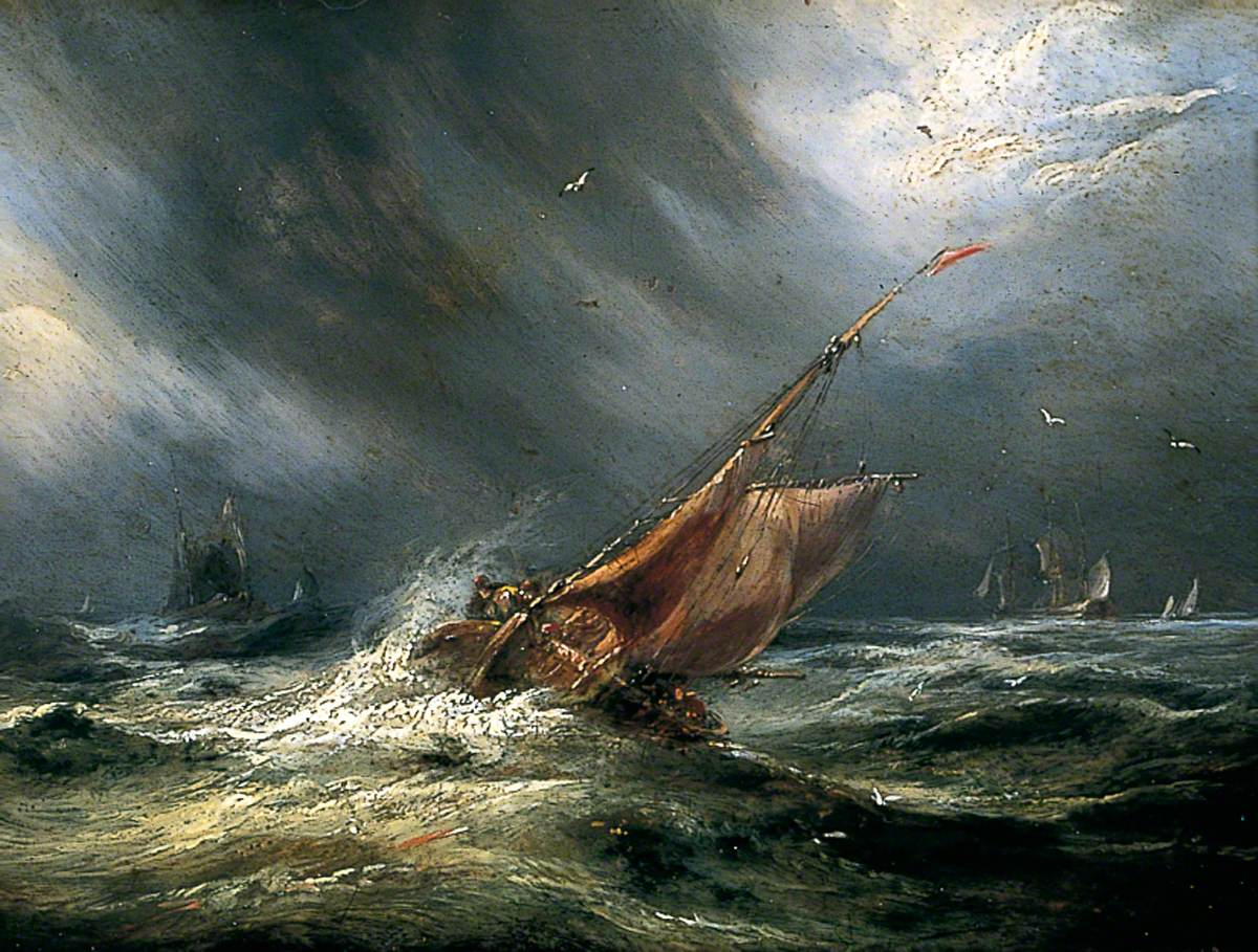 Seascape with Ship in Storm