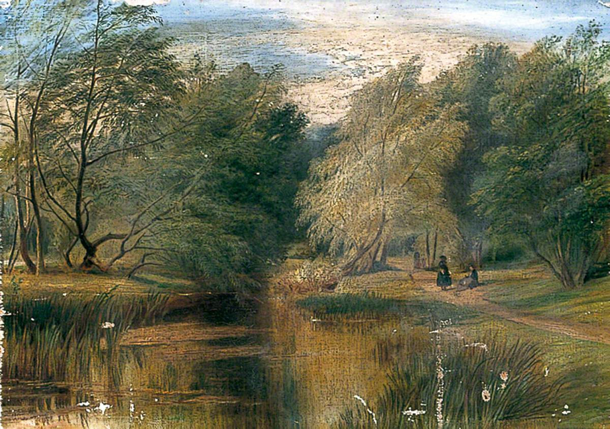 Woodland Scene with Two Figures