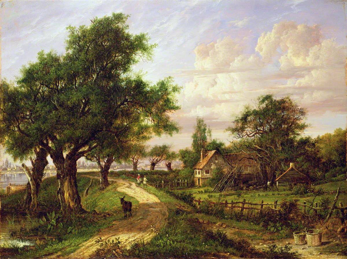 A Farmstead by a River