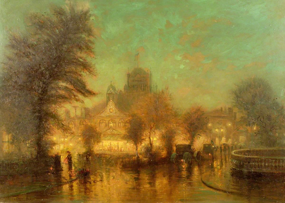 Night Scene at the Royal Hall, Harrogate