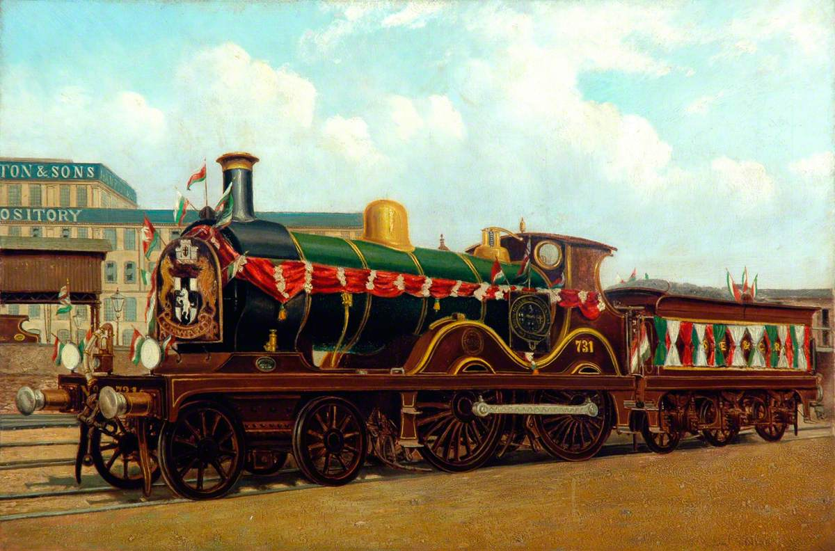 South Eastern and Chatham Railway 4–4–0 Locomotive No. 731 Decorated for the Coronation of King Edward VII, 1902