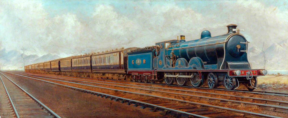 Caledonian Railway West Coast Dining Train Hauled by 4–6–0 Locomotive No. 49