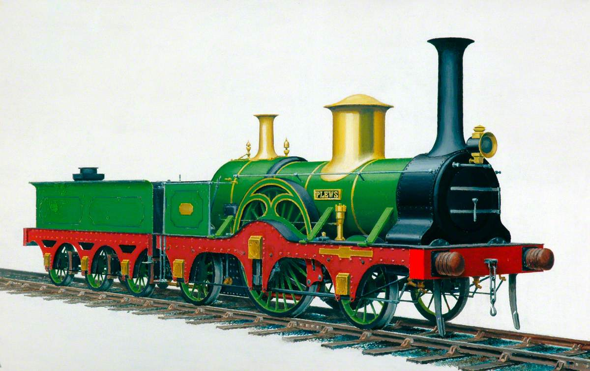 York, Newcastle and Berwick Railway 2–2–2 Locomotive 'Plews'