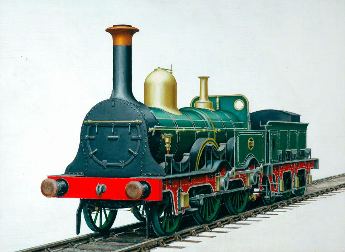 South Eastern Railway 2–4–0 Locomotive No. 118