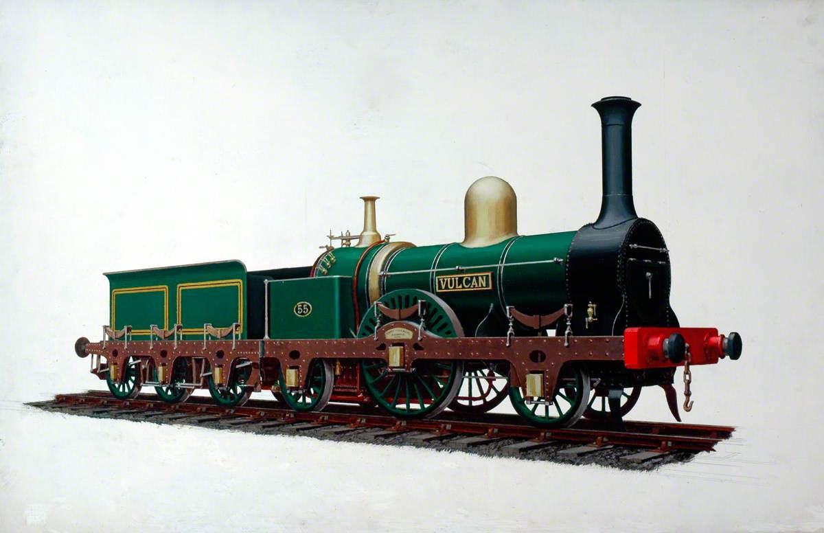 Shrewsbury and Birmingham Railway 2–2–2 Locomotive No. 55 'Vulcan'