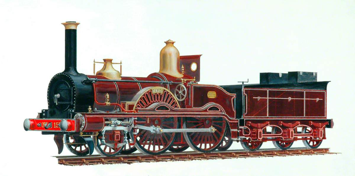 London and South Western Railway 2–4–0 Locomotive 'Clyde'