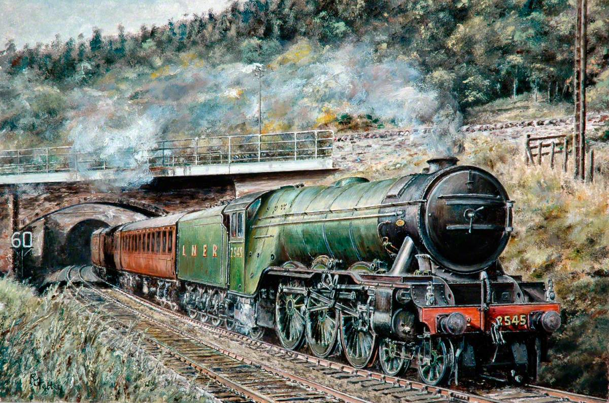 London and North Eastern Railway A3 Pacific No. 2545 'Diamond Jubilee' Emerging from Penmanshiel Tunnel