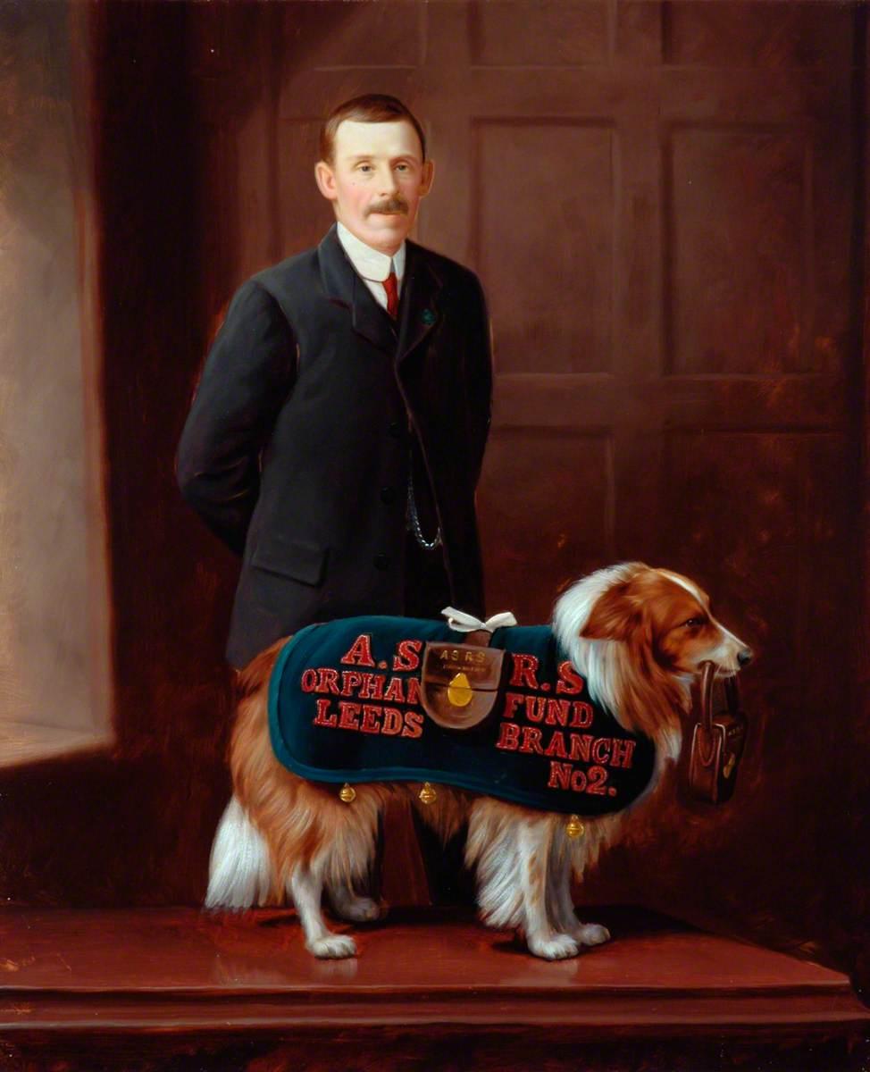 'Carlo', Railway Collecting Dog for the Amalgamated Society of Railway Servants Orphan Fund