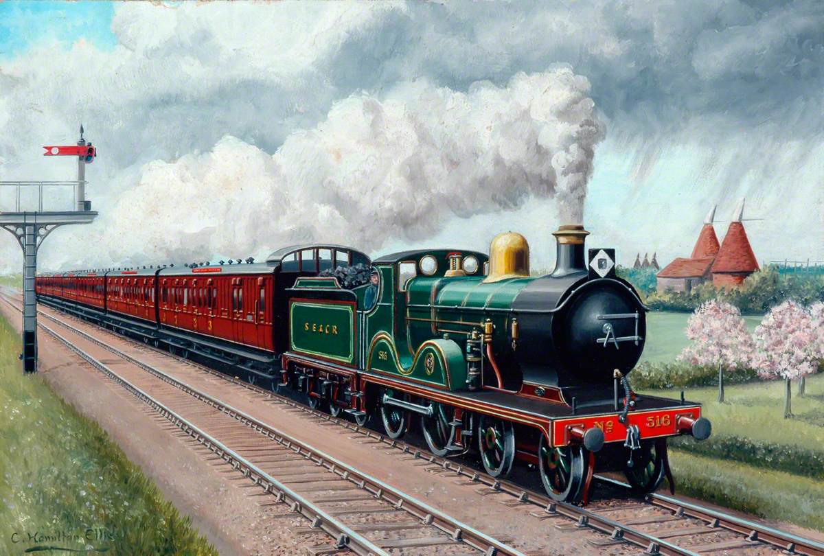South Eastern and Chatham Railway 4–4–0 Locomotive No. 516