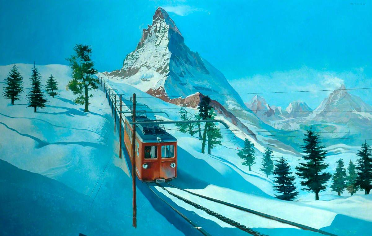 Electric Rack Railway below the Matterhorn in Switzerland