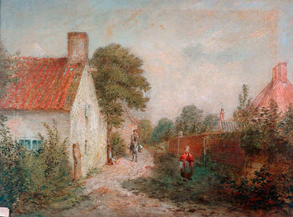 Lane by a Cottage