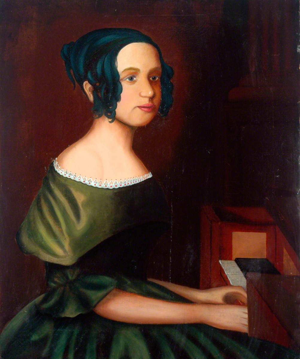 Portrait of an Unknown Lady Playing a Keyboard
