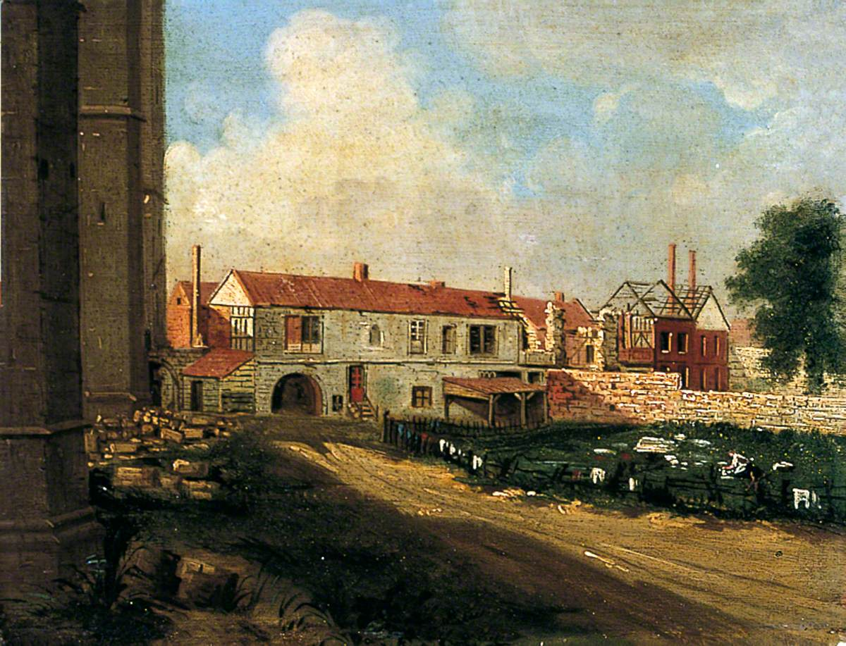 Ruins of Lord Ingram's House from the Dean's Park, York