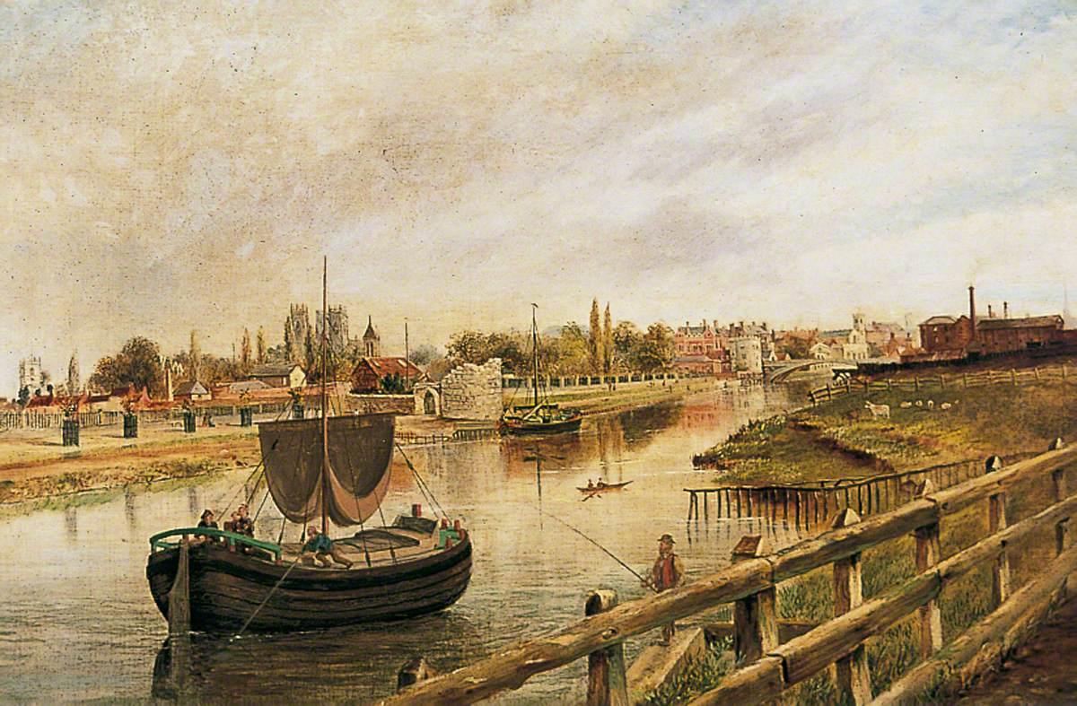 York, the Ouse from Scarborough Railway Bridge