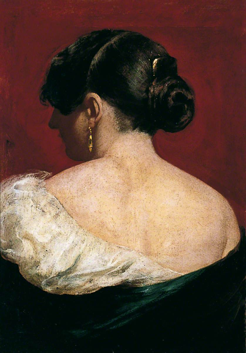 Head and Shoulders of a Girl from behind