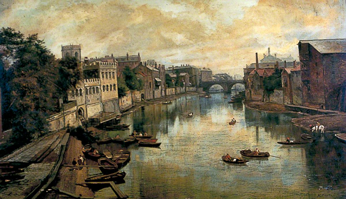 View on the River Ouse Looking Downstream from Lendal Bridge
