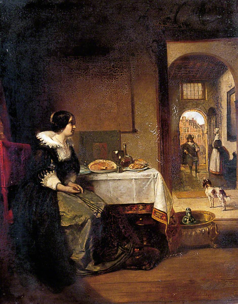 A Seventeenth-Century Dutch Interior with a Seated Lady