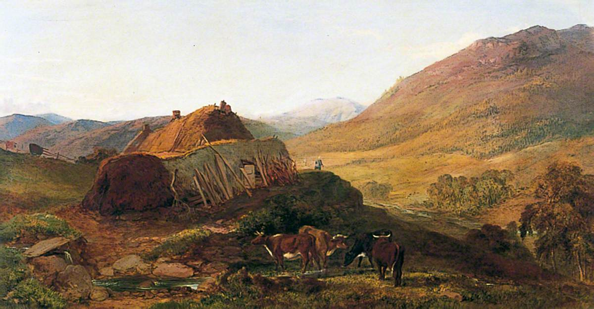 Evening: Cottages on the Braeside
