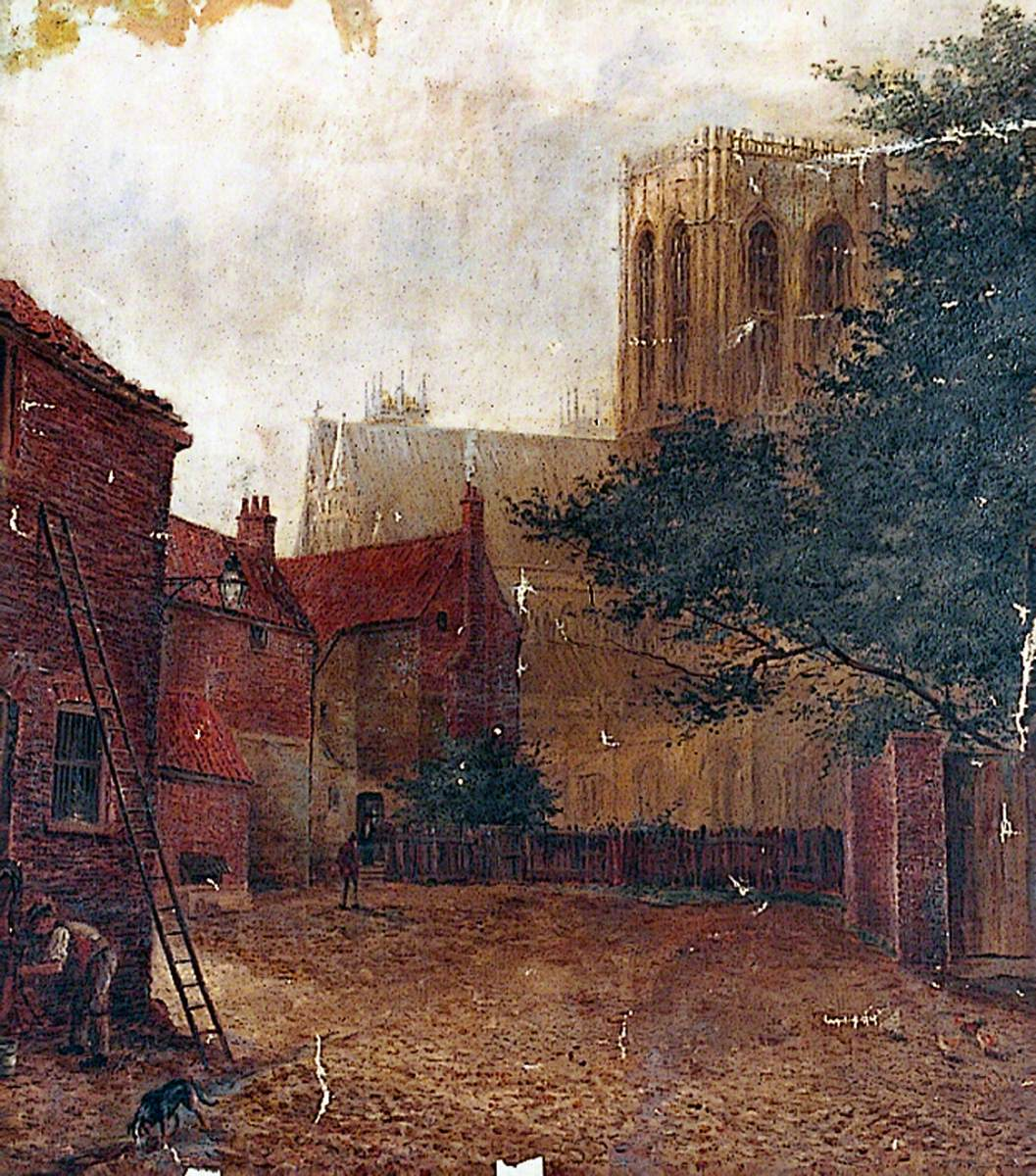 York Minster from Goodramgate (Mawe's Yard)