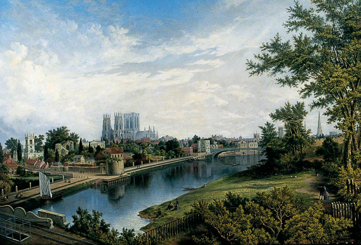 York from Scarborough Railway Bridge