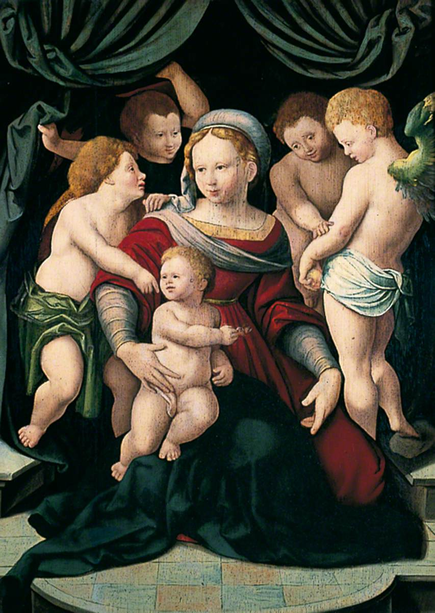 Madonna and Child with Four Cherubs