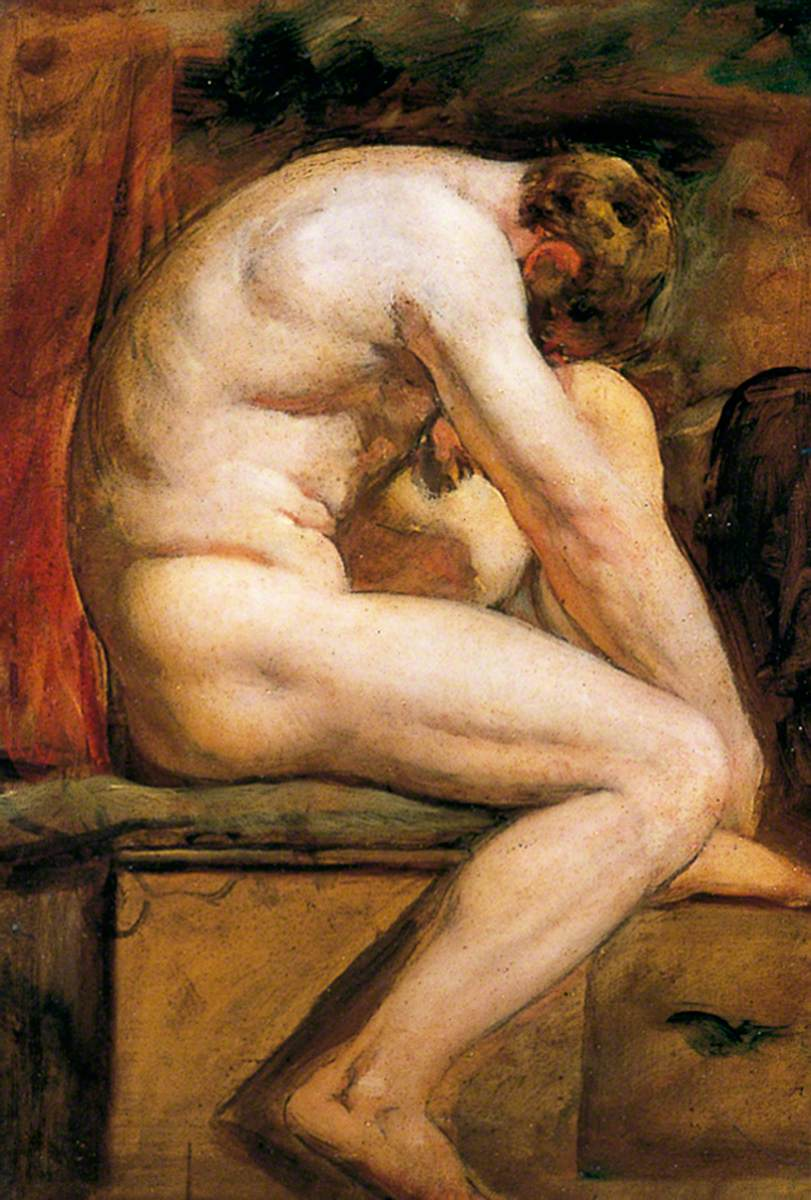 Male Nude Crouching