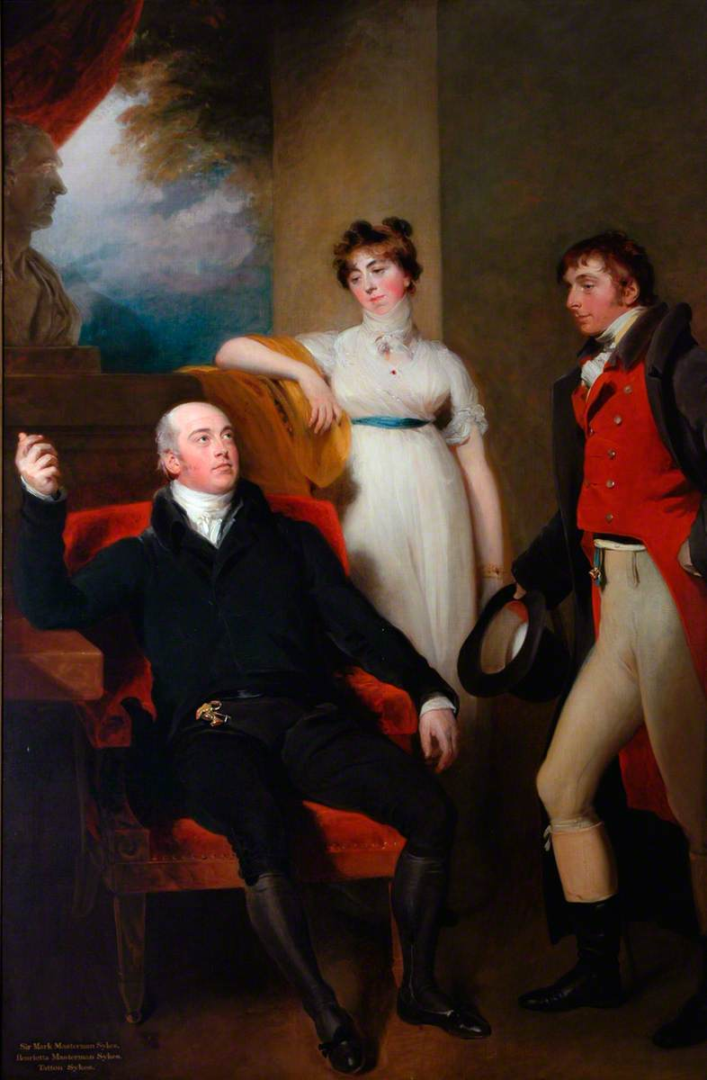 Sir Mark Sykes, Henrietta Masterman Sykes and Tatton Sykes