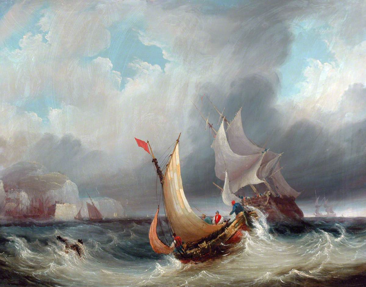 Shipping Offshore in a Stormy Sea