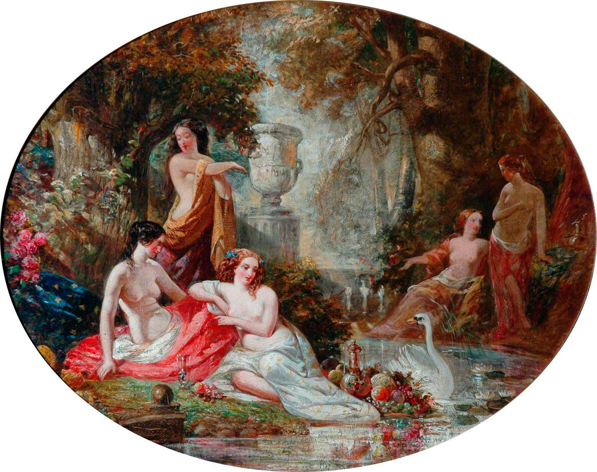 Woodland Nymphs in an Arcadian Landscape