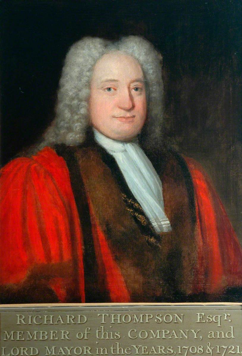 Richard Thompson Esq., Governor of the Merchant Adventurers' Company (1715–1718) and Lord Mayor (1708 & 1721)