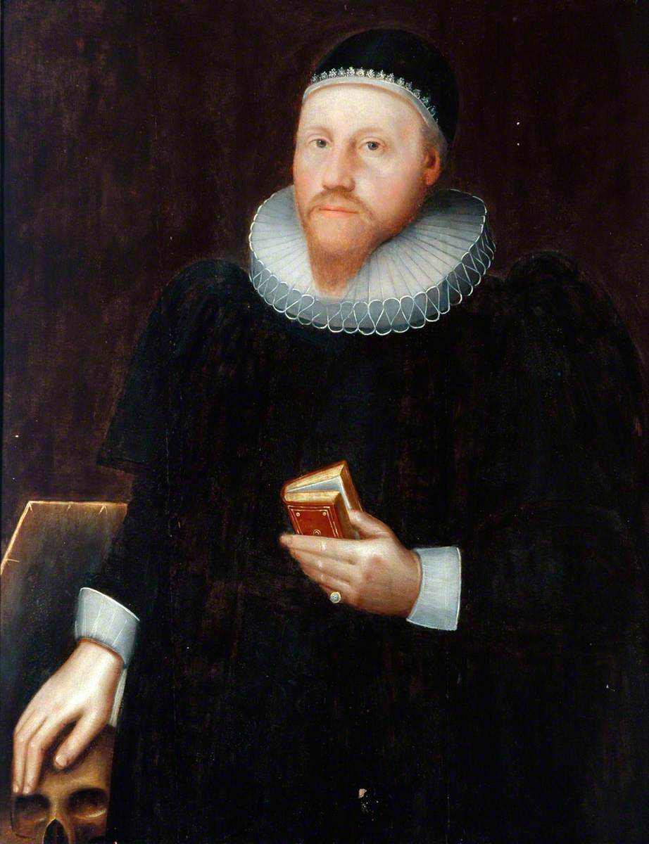 Portrait of an Unknown Gentleman with a Red Book and a Skull