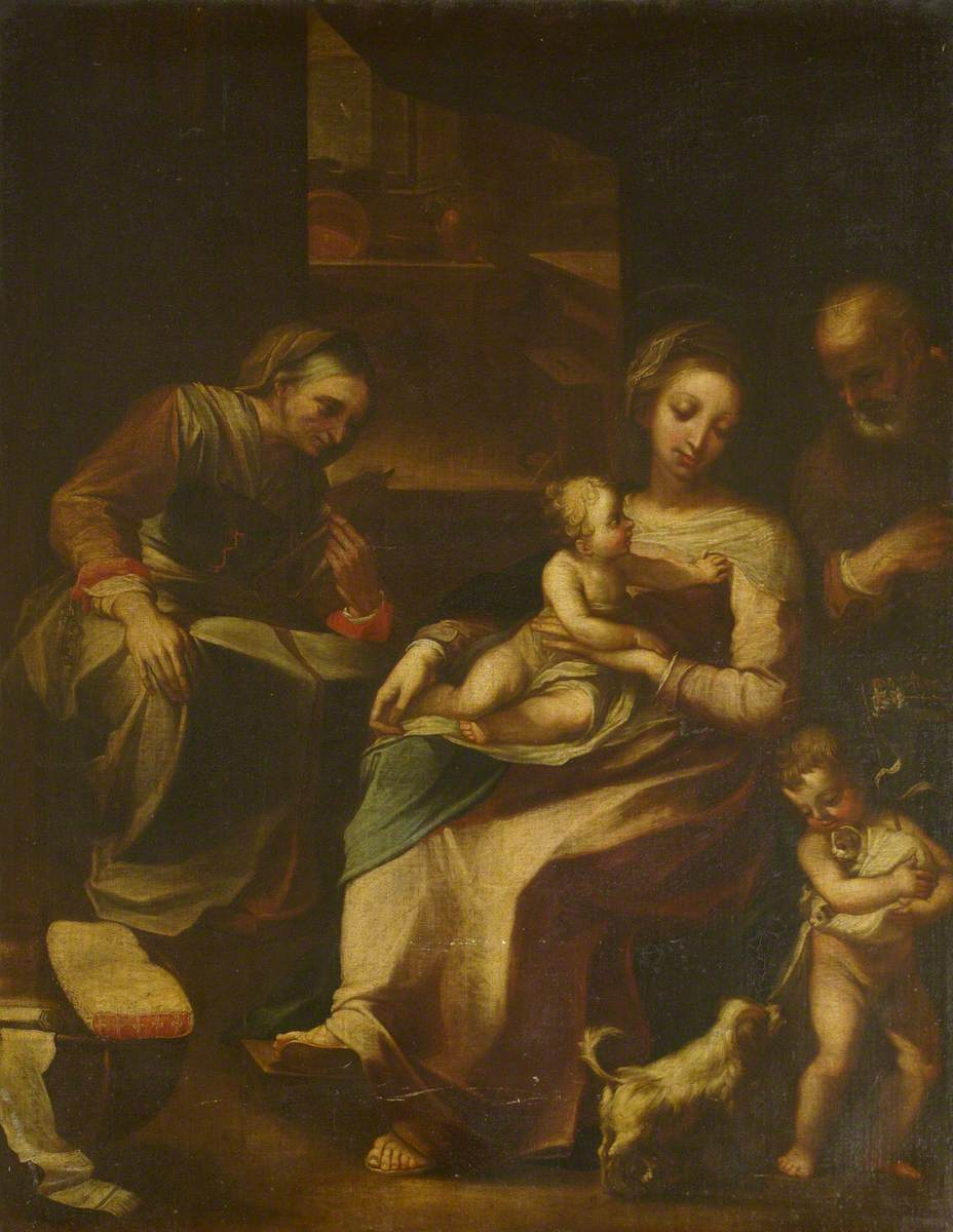Madonna and Child with a Small Dog