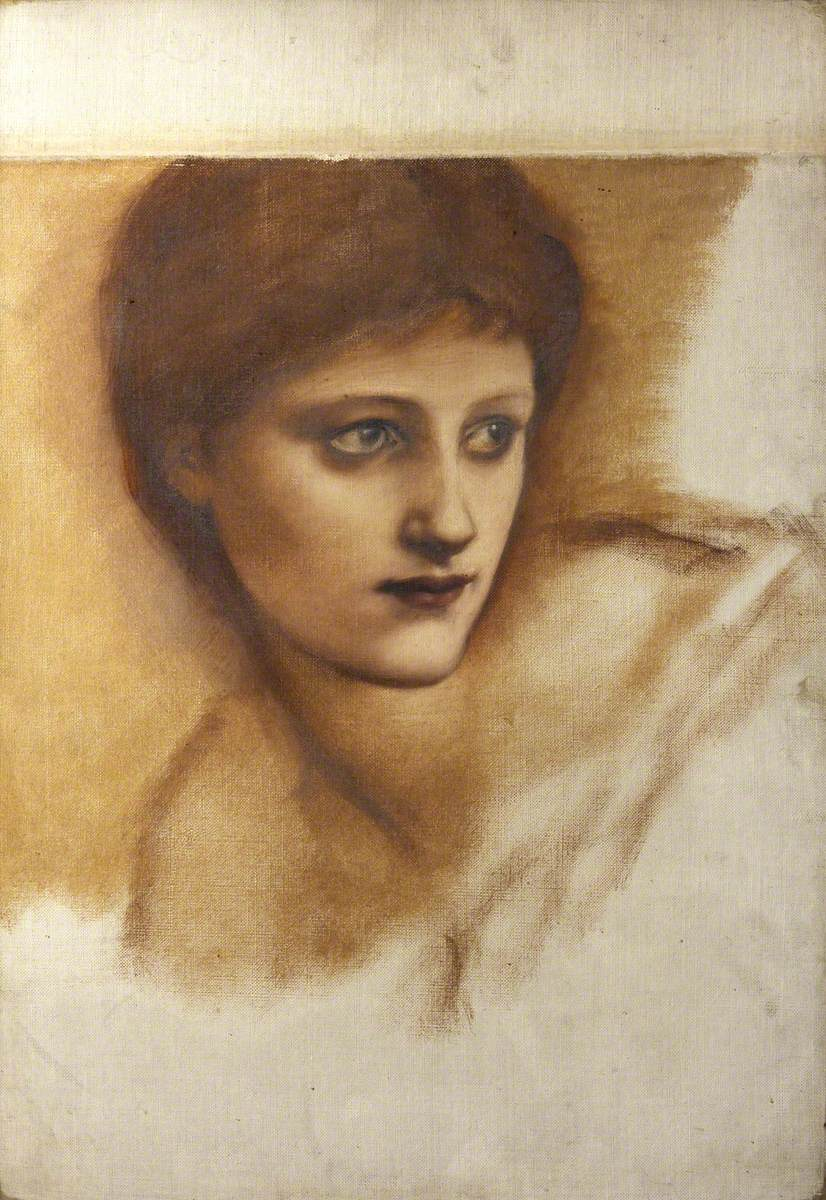 Study for the Head of Mary Magdalene in 'The Morning of the Resurrection'