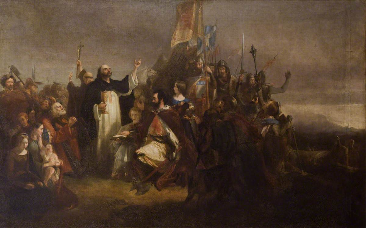 Robert the Bruce on the Eve of Bannockburn Receiving the Sacrament from the Abbot of Inchaffre