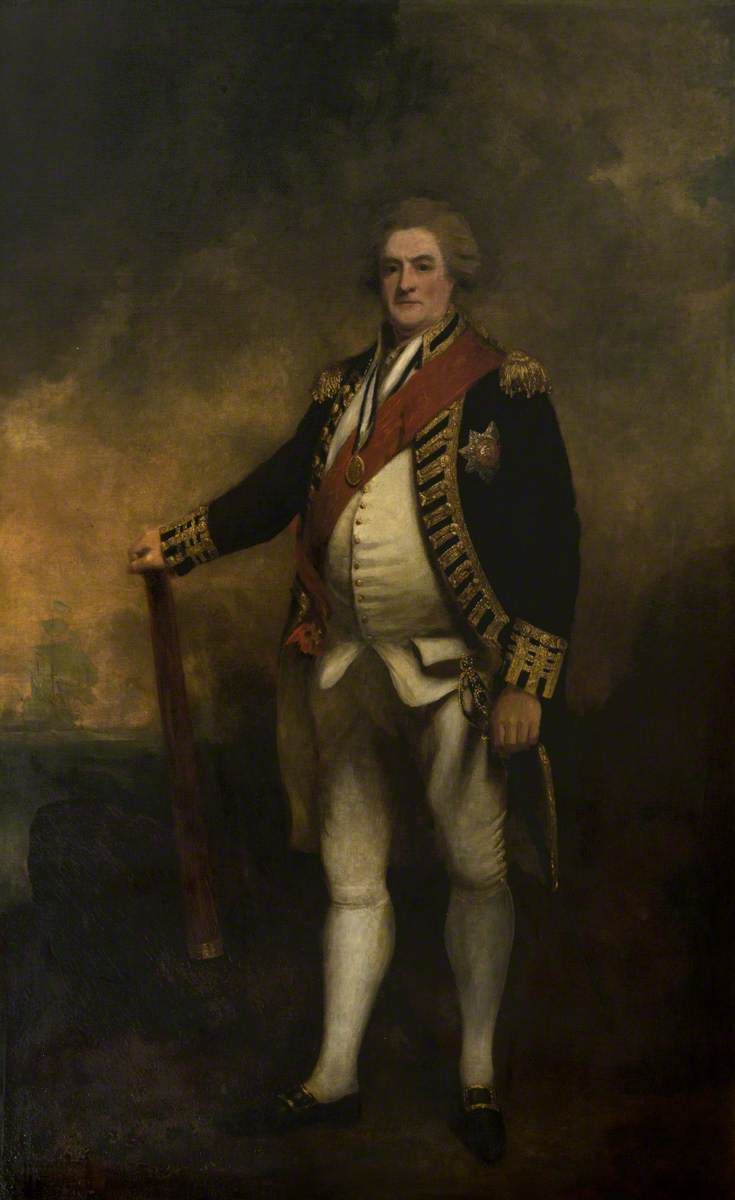 Admiral Lord Duncan, Commander of the British Fleet, Battle of Camperdown