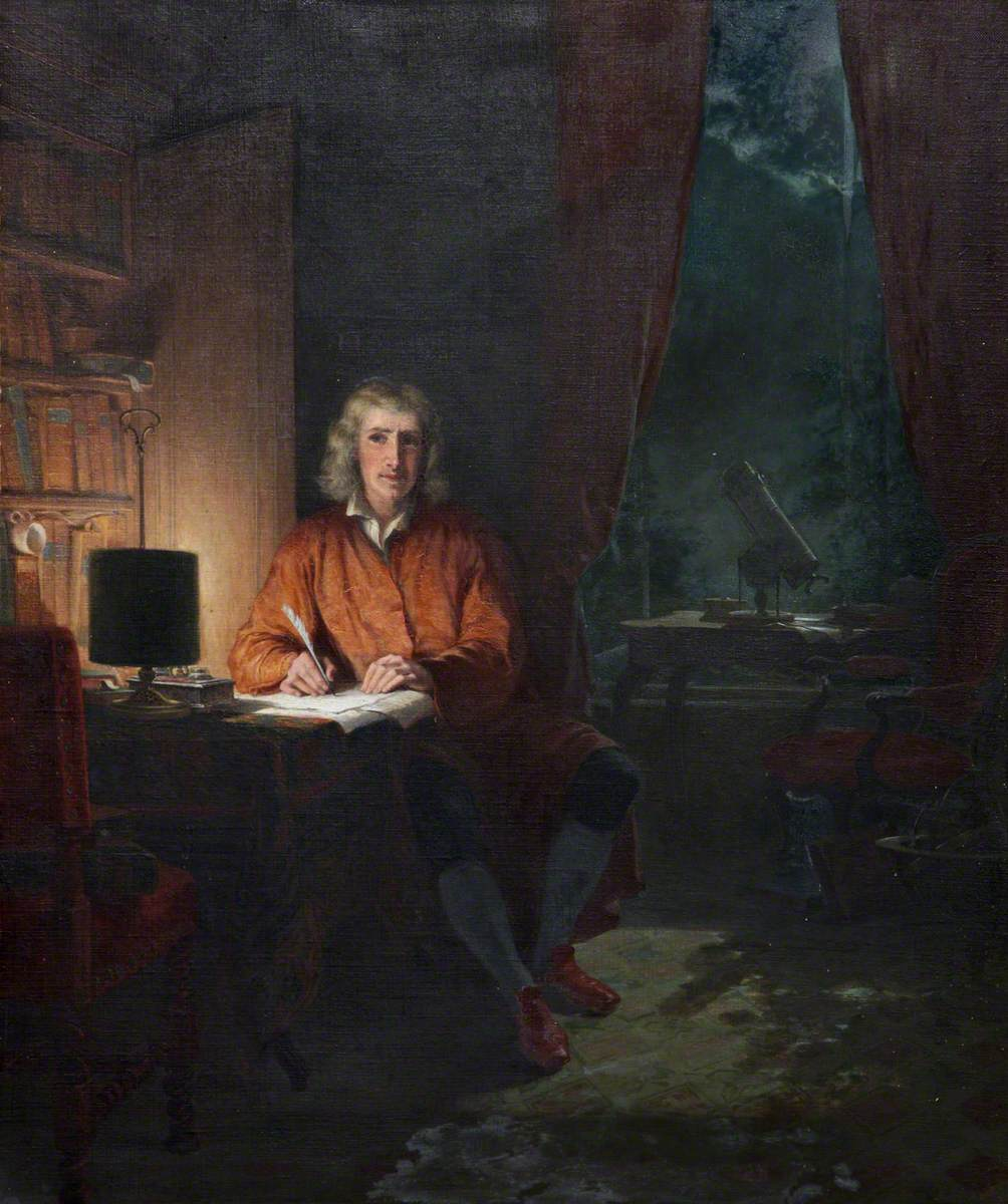 Sir Isaac Newton (1642–1727), in His Study