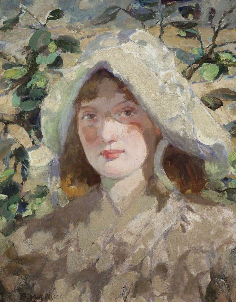 Young Woman in a Sun Bonnet