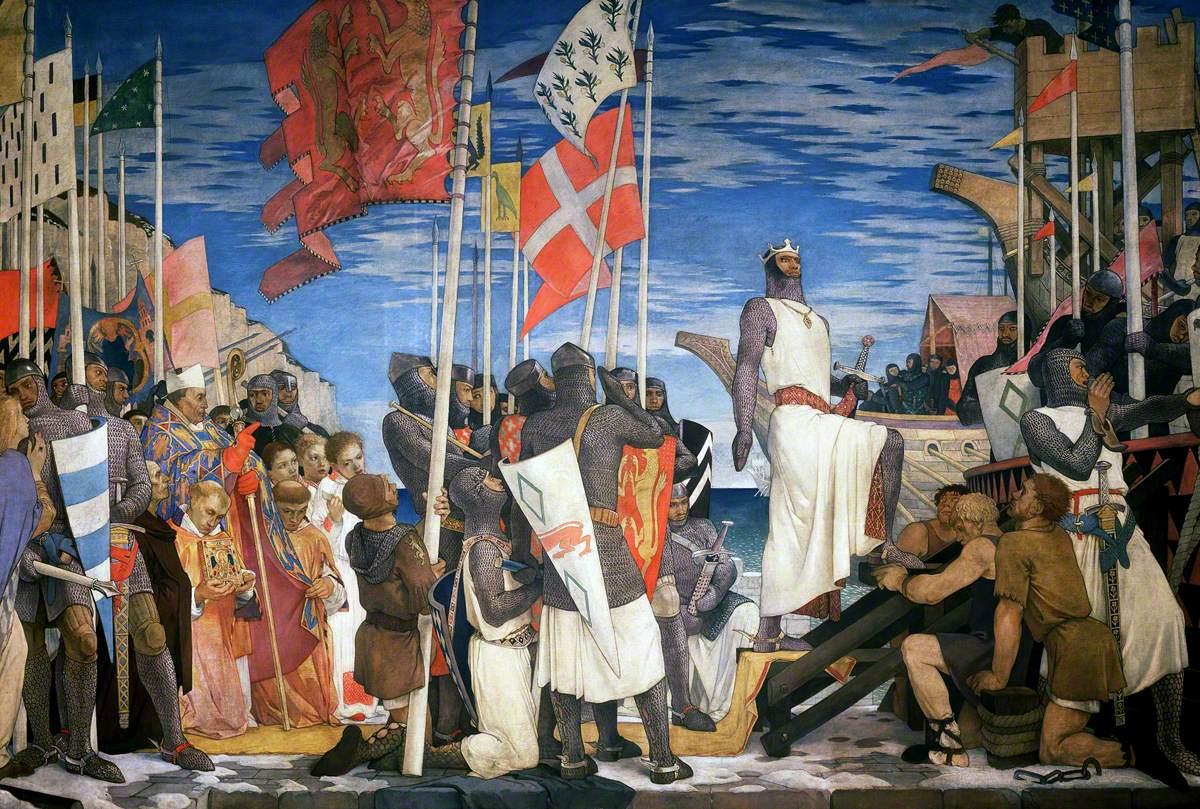 Richard I Leaving England for the Crusades, 1189