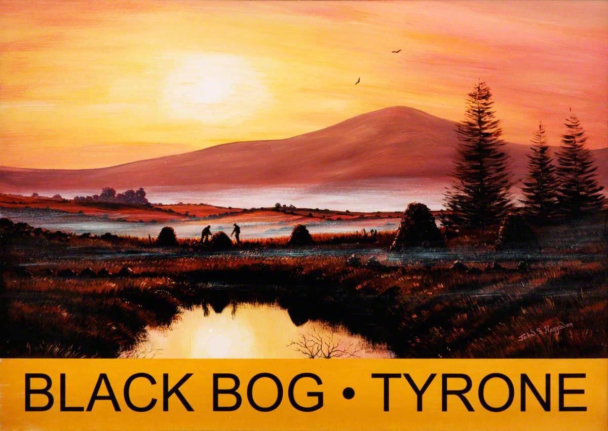 Stacking Turf, Black Bog, County Tyrone