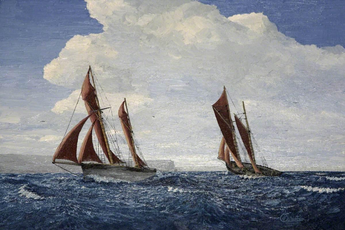 Brixham Trawlers off Berry Head