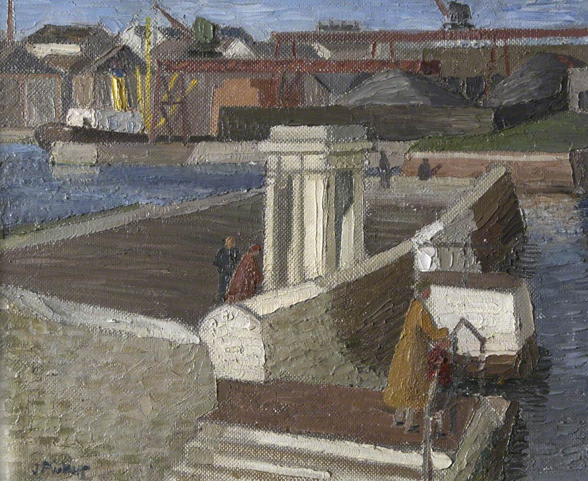 People on a Quay